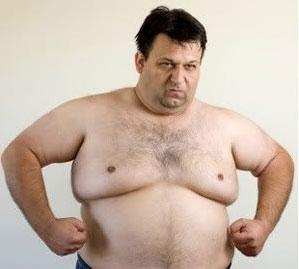 Рис. 3. Женская грудь у мужчины может быть спутником ожирения